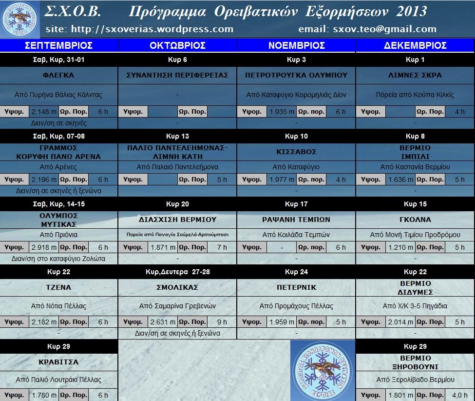 ΣΕΠΤΕΜΒΡΙΟΣ - ΔΕΚΕΜΒΡΙΟΣ 2013