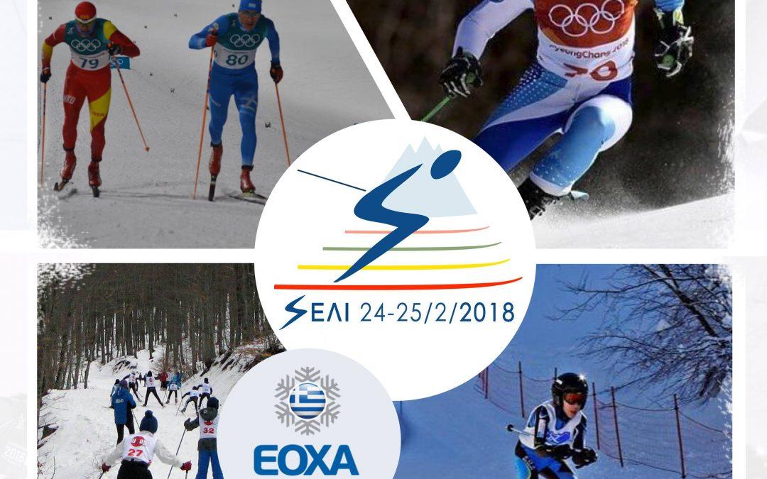 Κύπελλο Ελλάδος Αλπικού Σκί και Σκί Δρόμων Αντοχής 24-25/2 2018