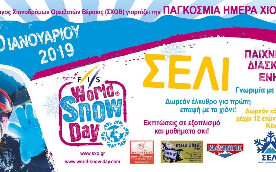 Παγκόσμια Ημέρα Χιονιού 2019 – Κυριακή 20 Ιανουαρίου !!!
